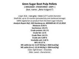 Гранулы сахарной свеклы (Dried sugarbeet pulp pellets)