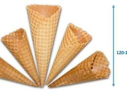 Вафельный рожок для мороженого