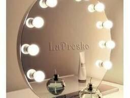 Зеркало с подсветкой на подставке d700